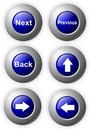 Buttons Glossy Blue arrows next back Royalty Free Stock Photo