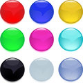 Buttons, glossy web Royalty Free Stock Photo