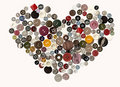 Buttons heart. Stock Images