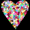 Buttons in a heart Royalty Free Stock Photos