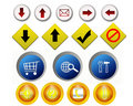 Buttons illustration Royalty Free Stock Photos