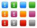 Buttons with info icon Royalty Free Stock Images