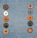 Buttons on jeans Stock Photography