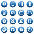 Buttons for media devices Royalty Free Stock Photo