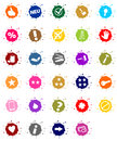 Buttons for painters colorful blob house painter Stock Photo