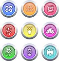 Buttons retro Royaltyfri Bild