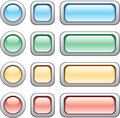Buttons set Royalty Free Stock Image
