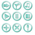 Buttons set of cut out with icons Royalty Free Stock Image