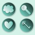 Buttons set with icons elements Royalty Free Stock Image