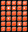 Buttons set orange Stock Images