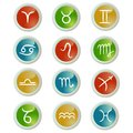 Buttons set with zodiac signs Royalty Free Stock Photography