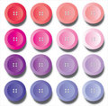 Buttons, shades pink and purple Stock Image
