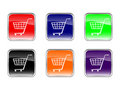 Buttons shopping cart Royalty Free Stock Photo