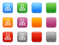 Buttons with site map icon Stock Photos