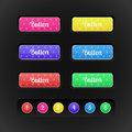 Buttons with special colored icons vector and numbers Royalty Free Stock Photography