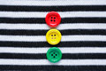 Buttons on striped vest diversity concept color black and white cloth Royalty Free Stock Photos