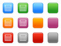 Buttons with table icon Royalty Free Stock Photos