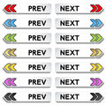 Buttons to the next and previous item Royalty Free Stock Photo