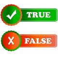 Buttons true and false Royalty Free Stock Images