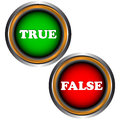 Buttons true and false Royalty Free Stock Photo