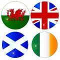 Buttons of the UK and Eire Royalty Free Stock Photo