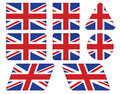 Buttons with union jack flag set of Royalty Free Stock Images