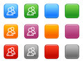 Buttons with users icon Stock Photo