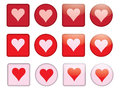 Buttons with valentine set of Stock Images