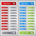 Buttons for website or app. Button - Buy now, Subscribe, Sign Up, Register, Download, Upload, Search, Next, Previous, Learn More Royalty Free Stock Photo