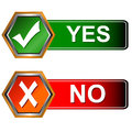 Buttons yes and no Royalty Free Stock Photo