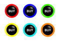 Buy buttons Royalty Free Stock Photos
