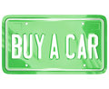 Buy a Car License Plate Auto Shopping Buying Vehicle