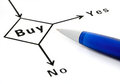 Buy decision concept Stock Photo