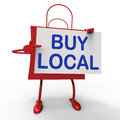 Buy local bag shows buying products locally showing Royalty Free Stock Photography