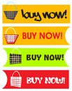 Buy now button set icons a of buttons element the sign can be used for commercial websites Stock Photography