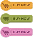 Buy Now buttons Royalty Free Stock Photo