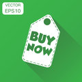 Buy now hang tag icon. Business concept buy now shopping pictogr Royalty Free Stock Photo