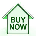 Buy now house shows make an offer on home showing Royalty Free Stock Image