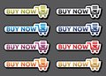 Buy now icon set Royalty Free Stock Photo