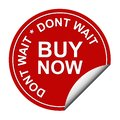 Buy now red sticker