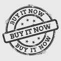 Buy it now rubber stamp on white.
