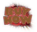 Buy now sign comic book style Royalty Free Stock Photos