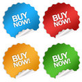 Buy now sticker Royalty Free Stock Images