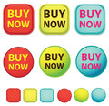 Buy now web buttons and blank buttons modern vintage style vector design Royalty Free Stock Photos