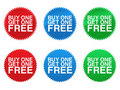 Buy One Get One Free Seals EPS Stock Photo