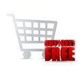 Buy one and get one free shopping cart illustration design Royalty Free Stock Image