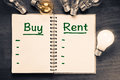 Buy and Rent Comparison Royalty Free Stock Photo