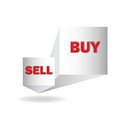 Buy and sell d sign in vector format Stock Images