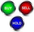 Buy sell hold icons Royalty Free Stock Photography
