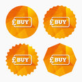 Buy sign icon. Online buying Pound button. Royalty Free Stock Photo
